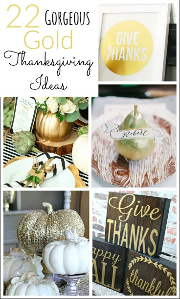 Gorgeous Gold thanksgiving Ideas