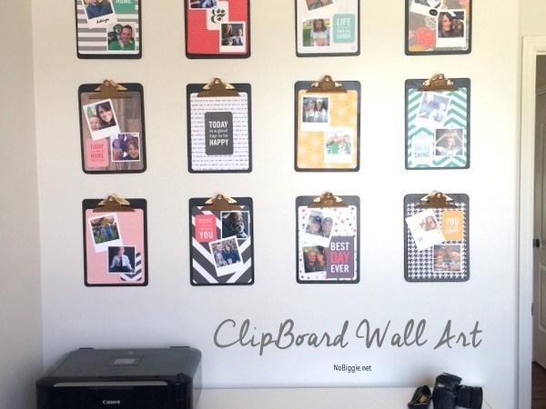 Make a DIY Clipboard Photo Display!