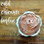 Cold Chocolate Fondue