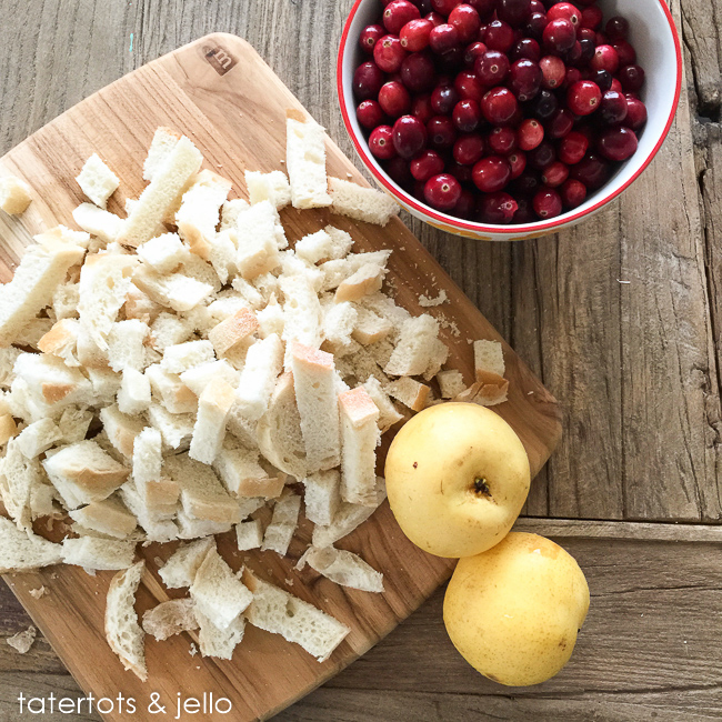 Apple Cranberry Herb Stuffing