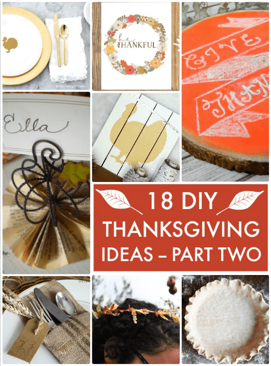 18 DIY Thanksgiving Part Two