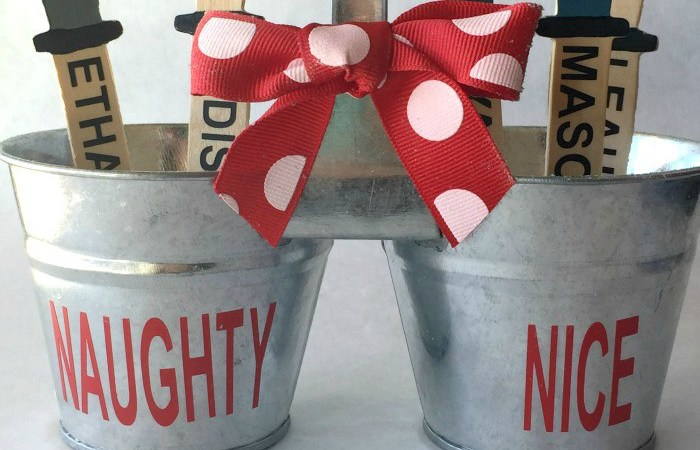 Happy Holidays: Naughty or Nice Bucket