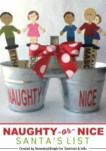 Happy Holidays: Naughty or Nice Bucket