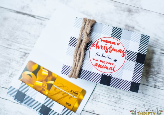 Free Printable Gift Card Holder