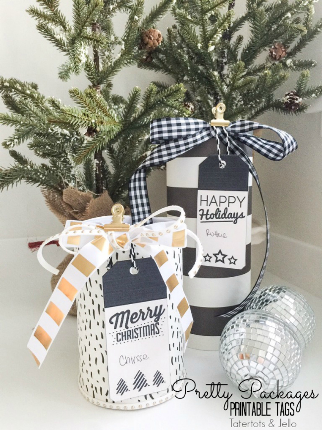 pretty packages printable tags