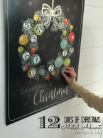 Metal Christmas Advent Countdown Calendar! [Free Printables!]