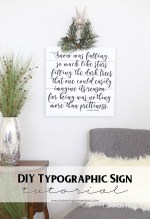 Happy Holidays: DIY Typographic Sign Tutorial