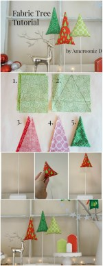 Happy Holidays: DIY Fabric Trees