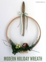 Happy Holidays: Modern Holiday Wreath