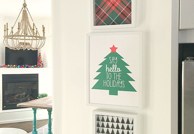 Free Christmas Tree & Plaid Printables! [Say Hello to the Holidays!]