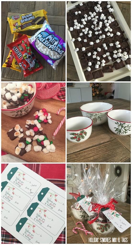 how to make holiday smores mix