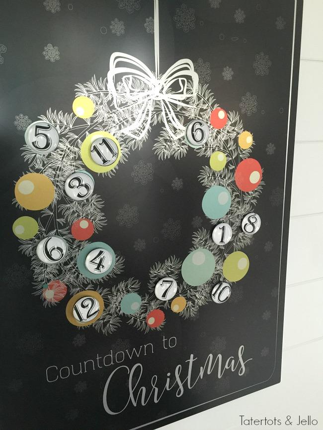 Christmas Advent Metal Countdown Calendar