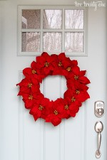 Happy Holidays: Easy Poinsettia Wreath