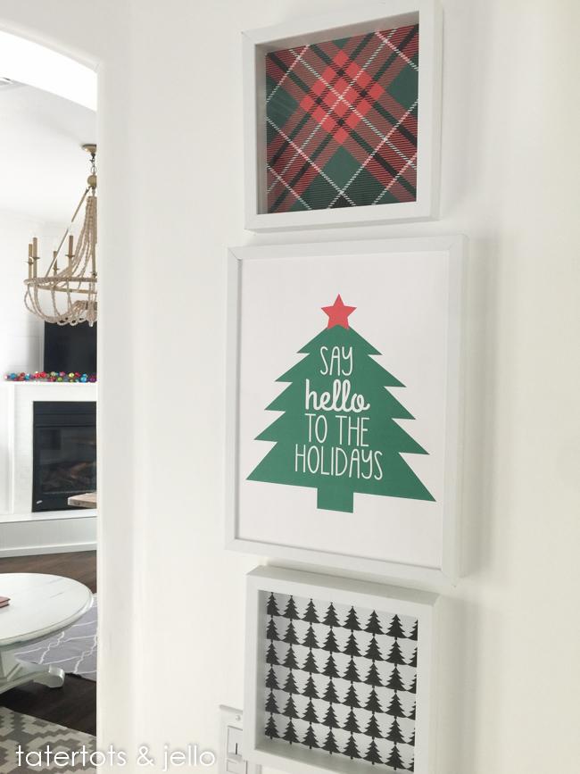 Free Tree and Plaid Holiday Printables