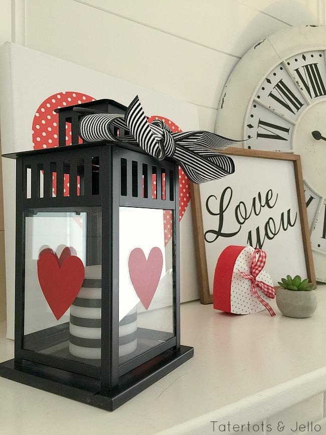 10 minute valentine lantern gift idea