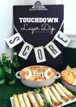 Touchdown Hot Layered Super Bowl Bean Dip Recipe!