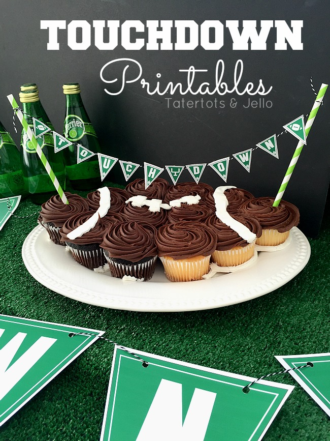 touchdown pennants & Toppers - free printables