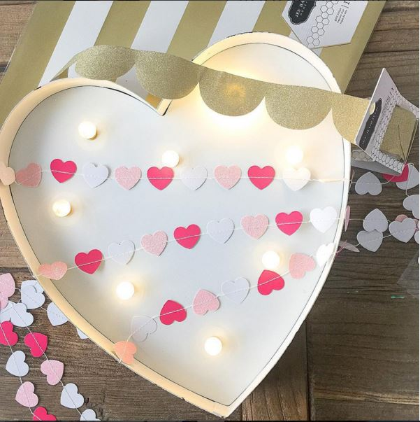 Valentines Day Marquee Heart