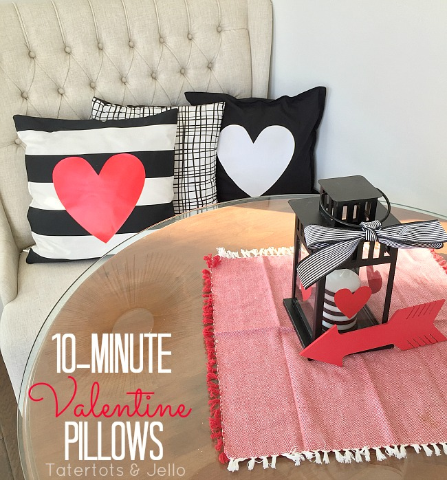 no sew heart pillow covers