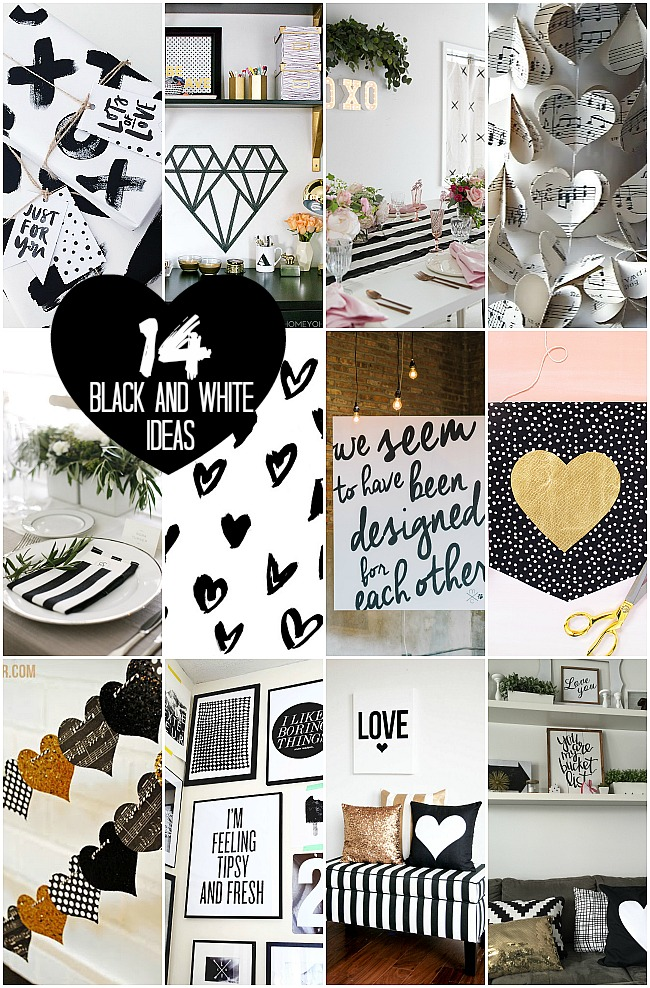 14 black and white decorating ideas