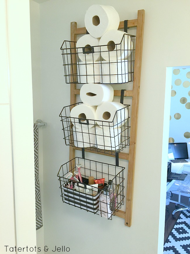 bathroom wood organizer