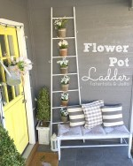 Spring Ladder Flower Pot Planter
