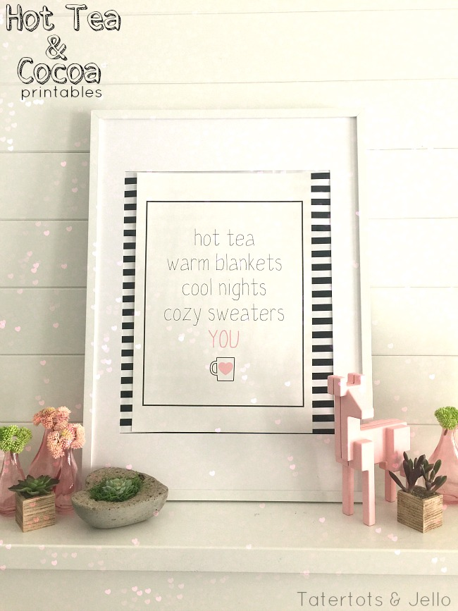 hot tea and hot chocolate printables