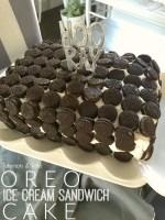 Oreo Ice Cream Sandwich Cake