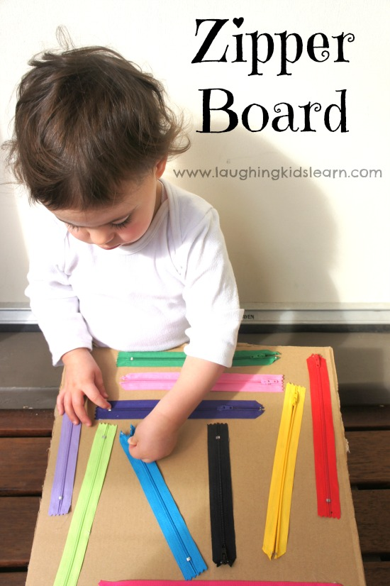 Zipper Board Toddler Sensory Quiet Time Activity