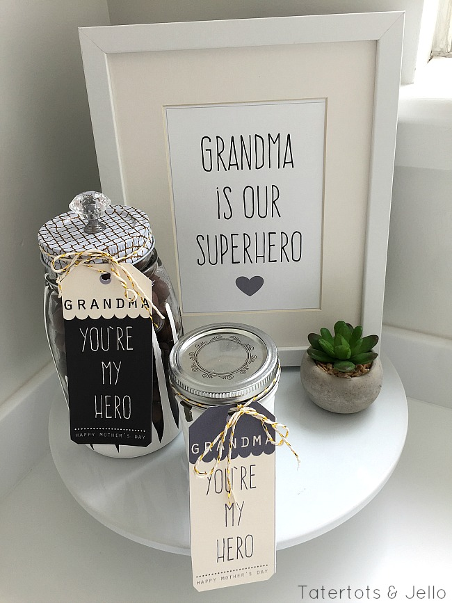 Dipped jars and mother;s day printables