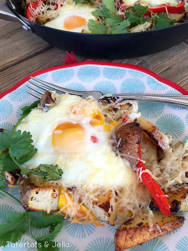 egg & potato skillet frittata recipe