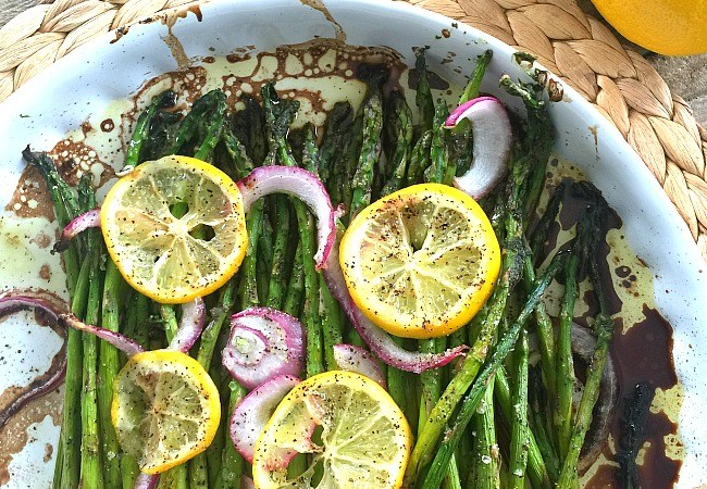 Roasted Lemon Balsamic Asparagus Recipe