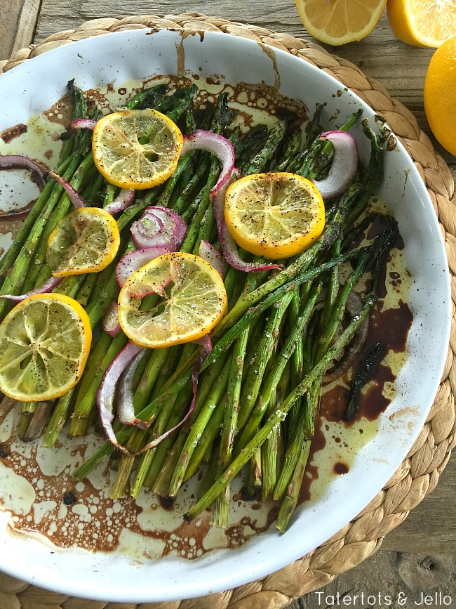 Lemon Balsamic Roasted Asparagus Recipe