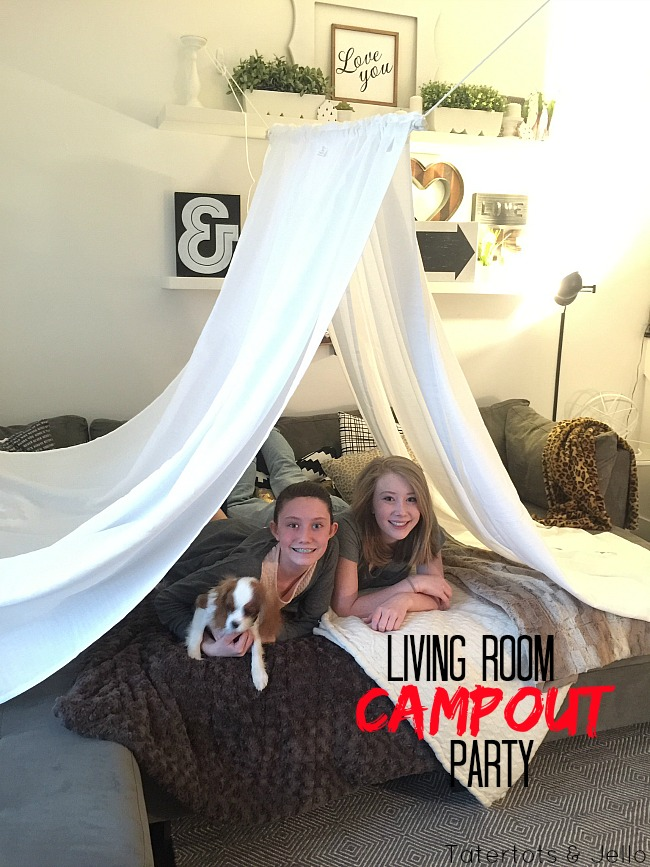 Living Room Campout Party