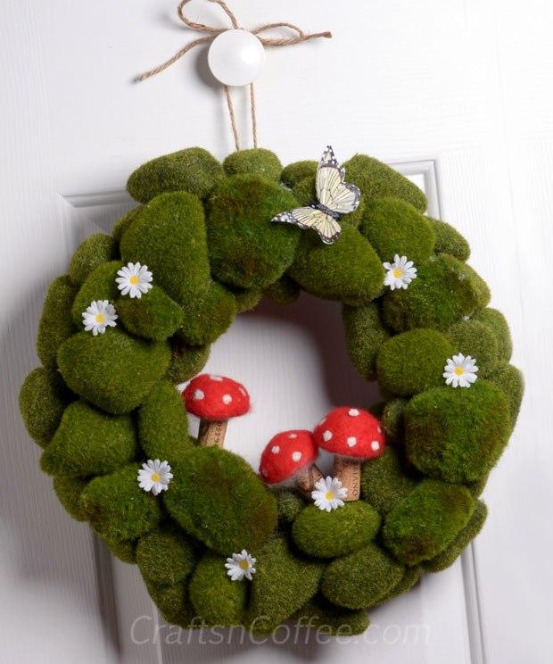 moss-mushroom-spring-wrea