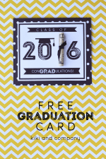 Printable Graduation Card and Gift Idea!