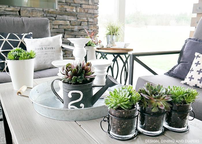 outdoor succulent decorating design dining diapers