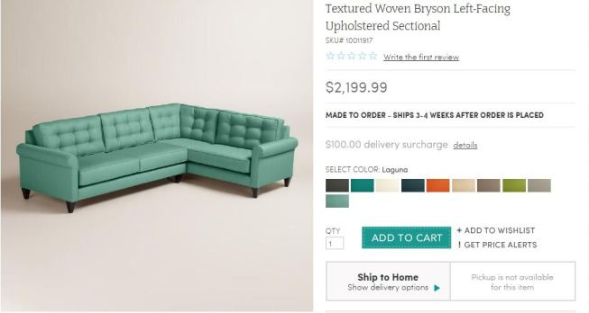 world market bryson sectional sofa review