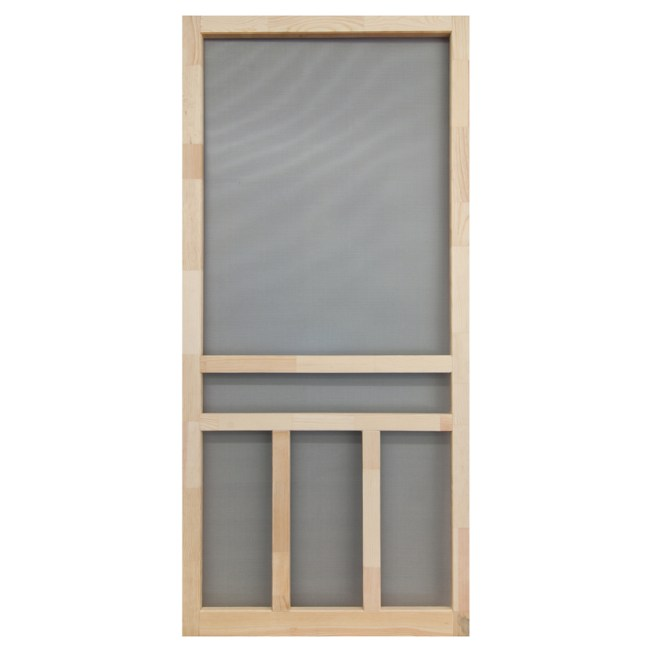 how to install a wood screen door