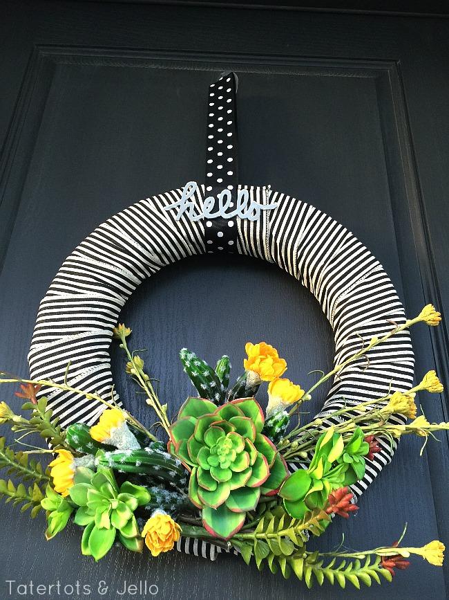 Modern Succulent Wreath
