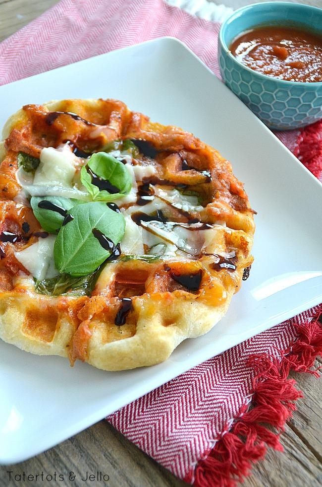 Margherita Pizza Waffle Idea