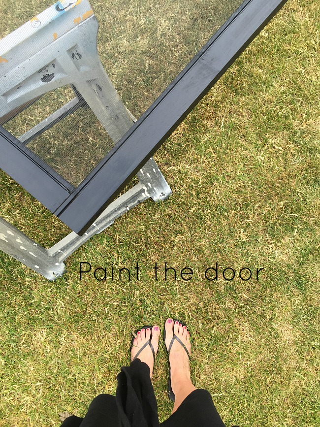 how to install a wood screen door
