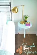 DIY Modern Farmhouse Dipped Nightstands