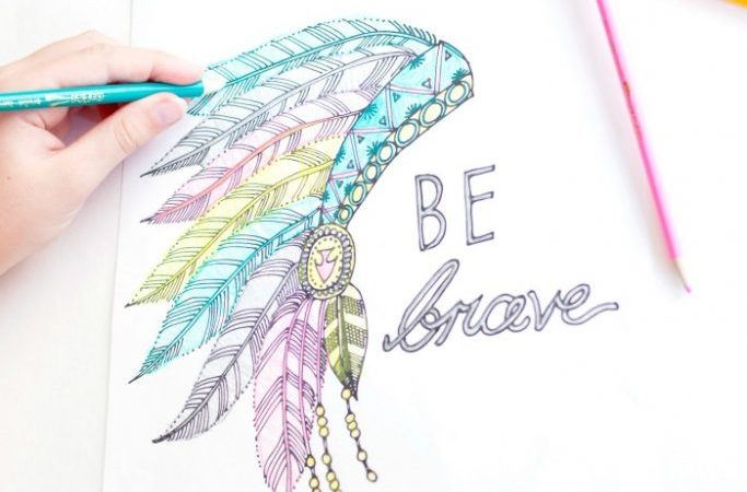 Be Brave Free Coloring Page Printable!