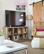 Family Room Beachy Organization Console