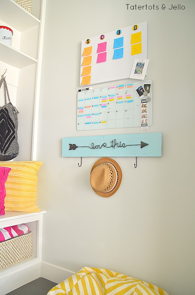 post it note back to school organizing ideas