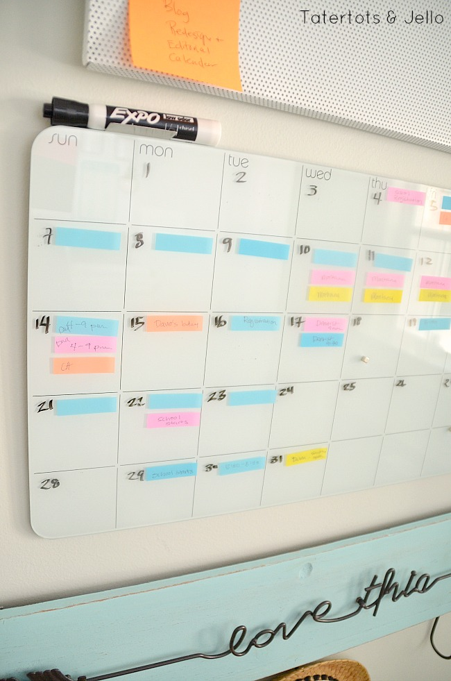 post it note flag calendar back to school