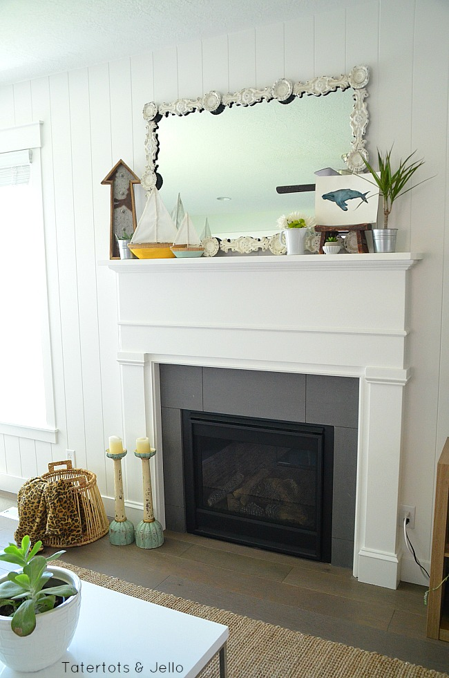 simple summer mantel ideas