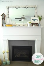 Simple Summer Mantel Using Found Items in Your Home