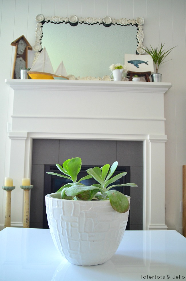 summer found mantel ideas